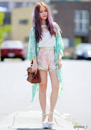 Cross Print Kimono - Port - Gorgeous Sheer Chiffon Top