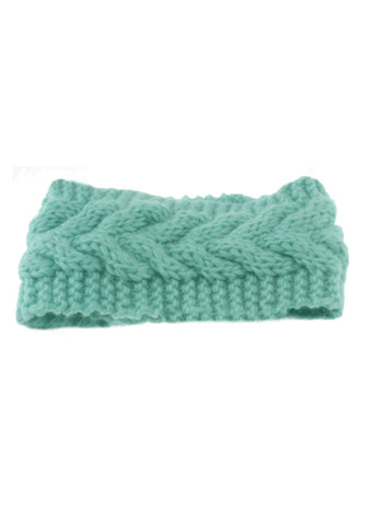 Mint Green Crochet Headwrap