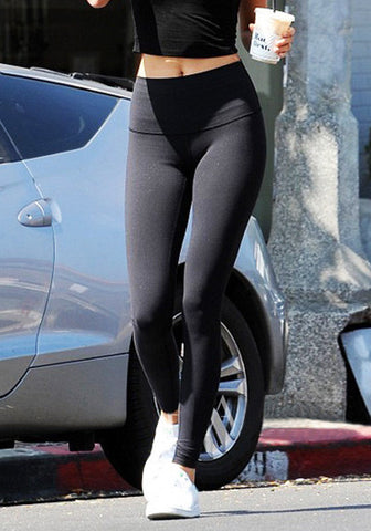 Black High-Waist Leggings