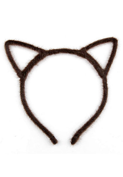 Front view of coffee cat ears headband
