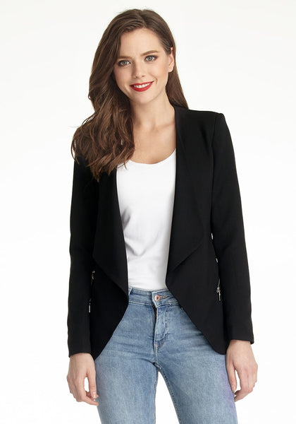 Black Draped Blazer