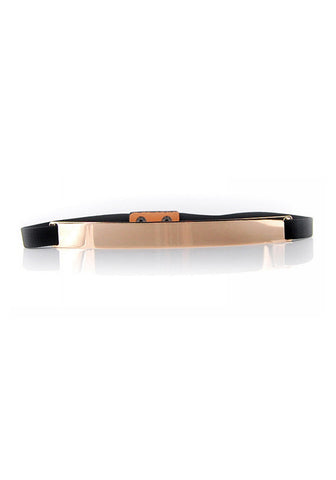 Gold Metal Panel Belt