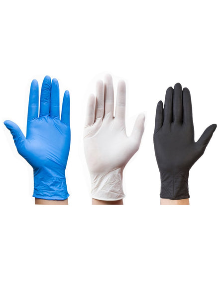 Image of 100pcs. nitrile waterproof protective disposable gloves
