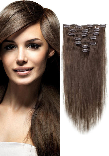 Dark Brown Hair Extensions Clip In