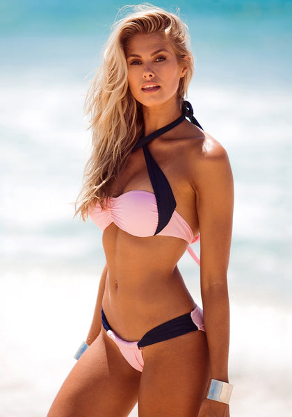 Pink and Navy Bikini Set - Super Hot Bikini