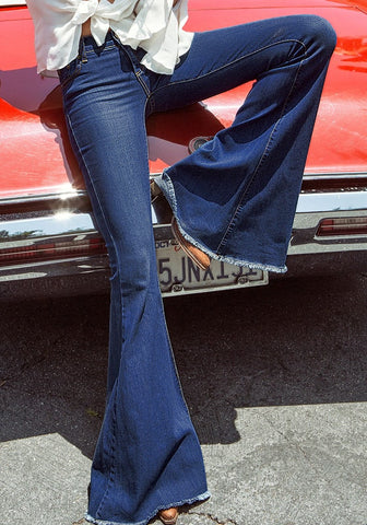 Blue Bell-Bottom Jeans
