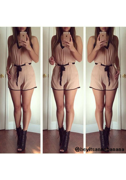 Slit Back Romper - No Stretch Romper
