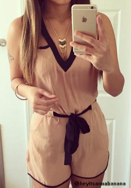Slit Back Romper - Cool Unlined Romper