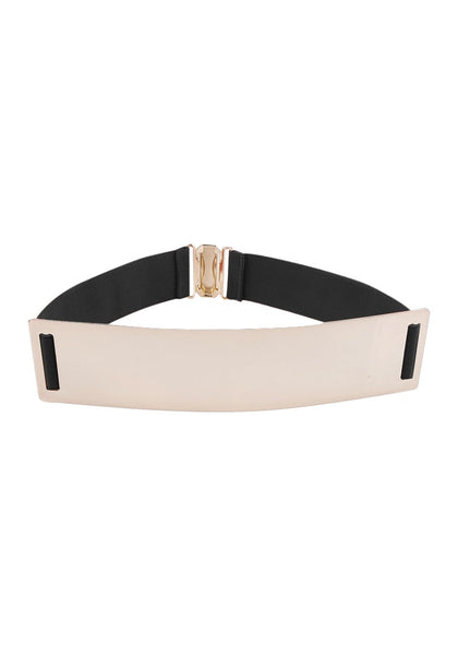 Smooth Plate Stretch Waist Belt - Black Smooth Plate Belt