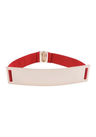 Smooth Plate Stretch Waist Belt