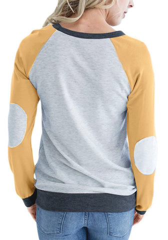 Yellow Elbow Patch Sweatshirt