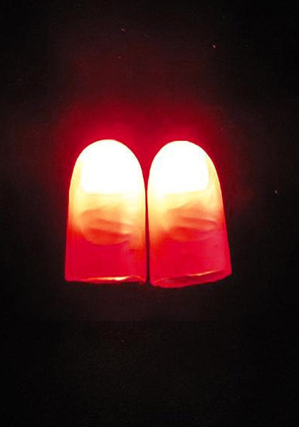 Two light up faux fingers