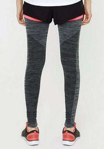 Dark Grey Melange Yoga Leggings