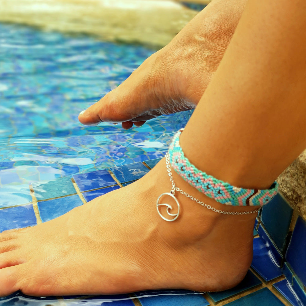 Beach Weave 2-Pc Anklet