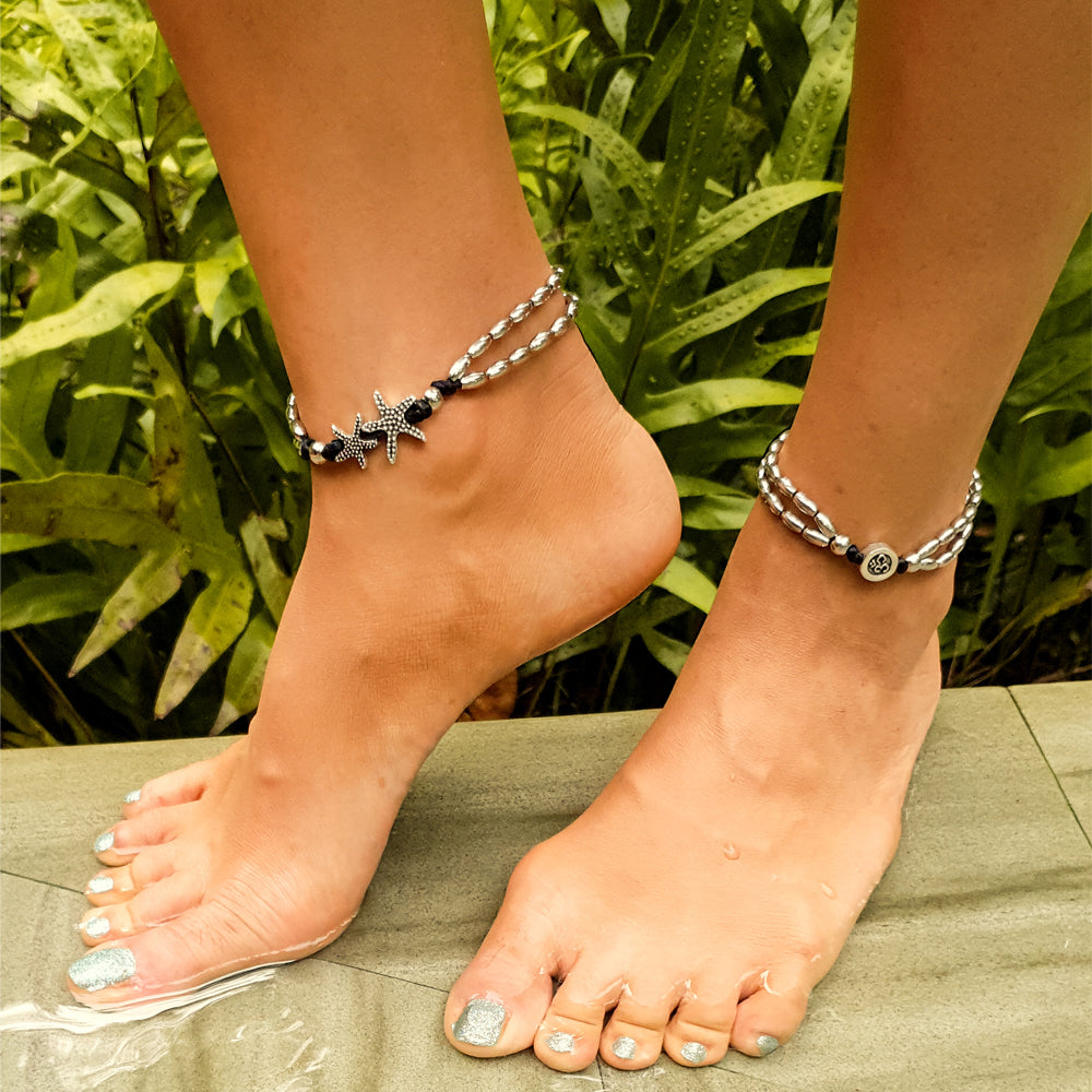 Starfish Charm Beach 2-Pc Anklet