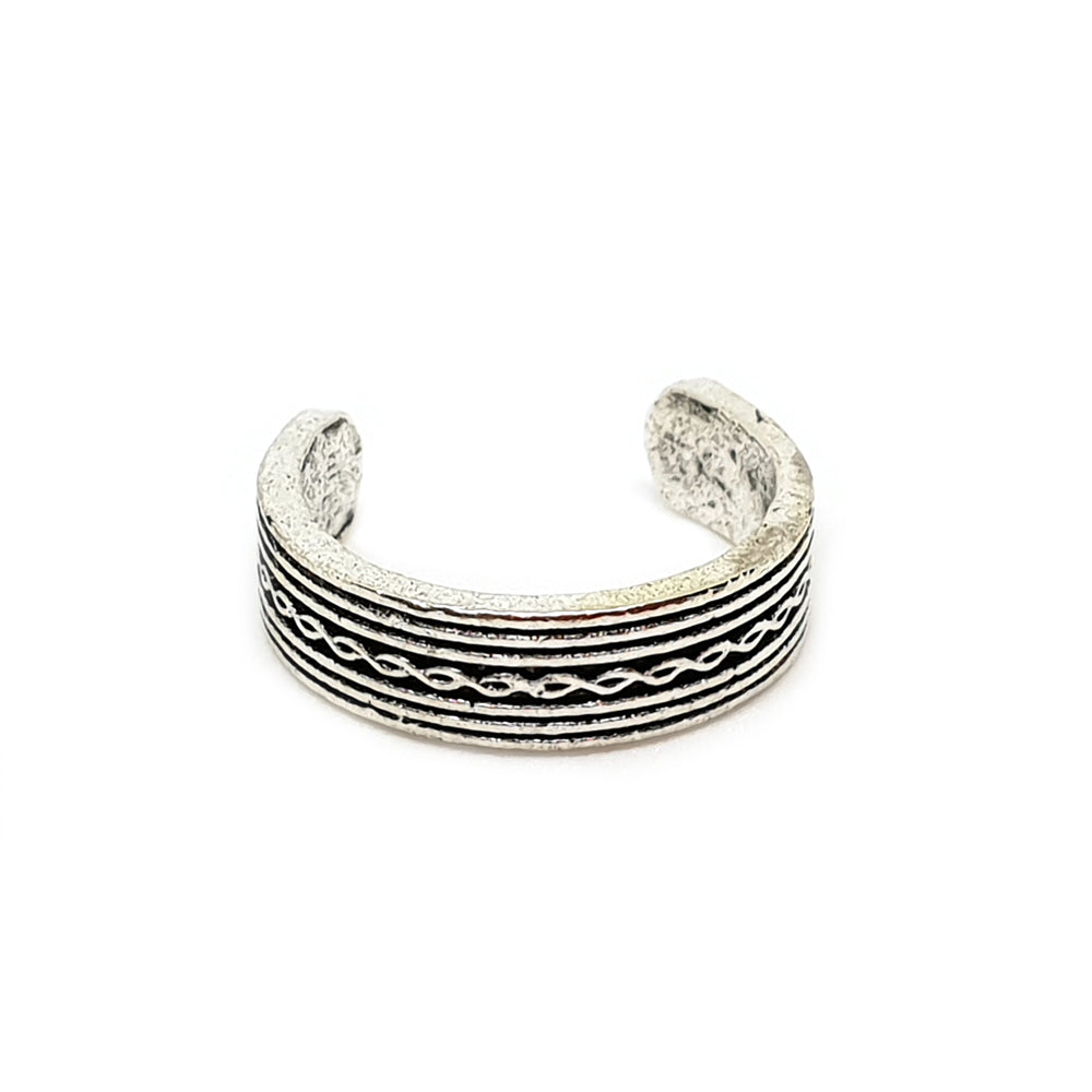 Silver Beach Toe Ring