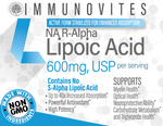 Stabilized R-Alpha Lipoic Capsules (TRUE) 600mg per Serving - 60ct Bottle - IMMUNOVITES