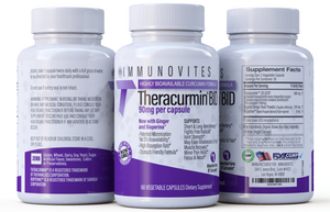 Theracurmin BID 600mg per Serving (Equivalent to 90mg Curcumin). Now w/ Ginger & Bioperine (60ct Bottle)
