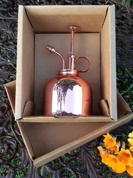 Copper mist sprayer for indoor plants