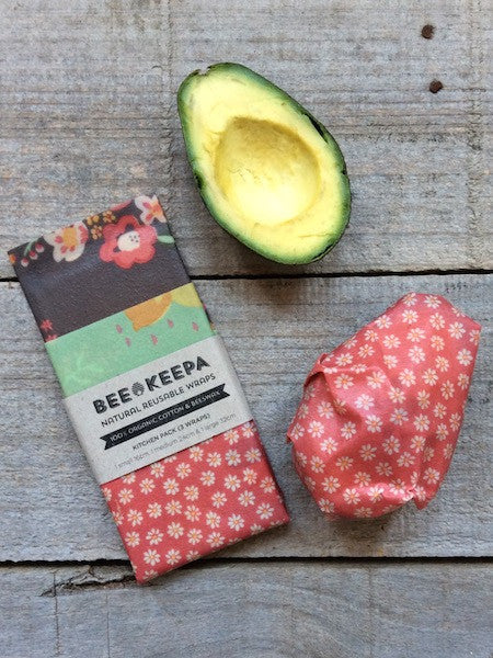Three pack Bee Keepa reusable wraps