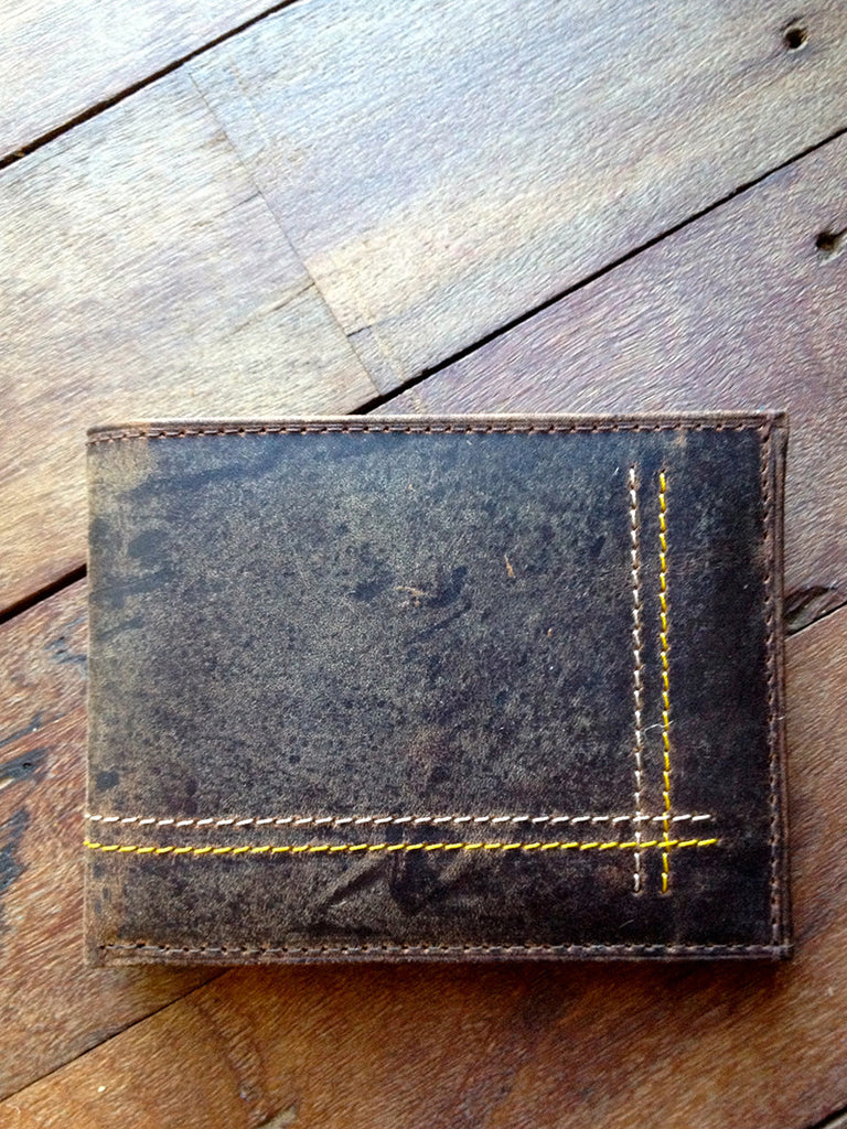 hunter leather mens fairtrade wallet closed