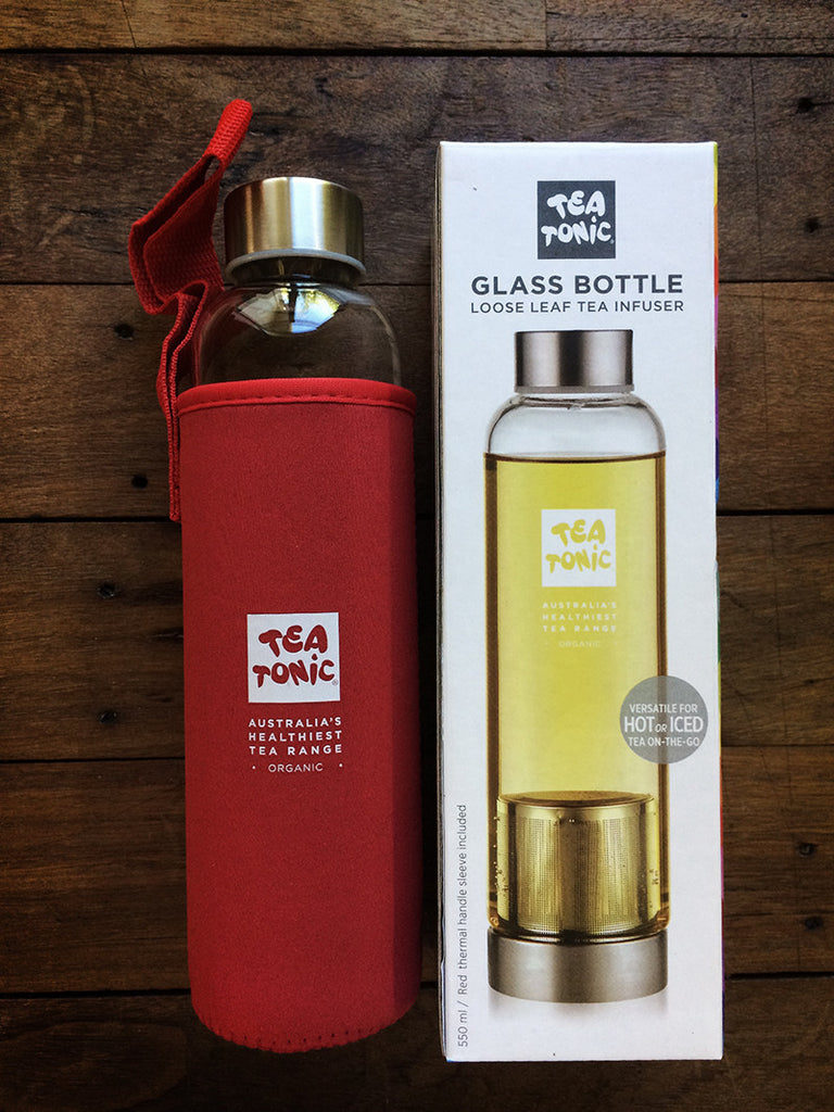 glass bottle red