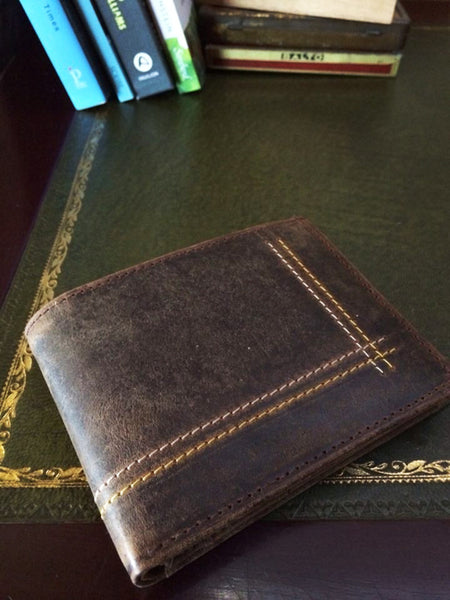 hunter leather mens fairtrade wallet