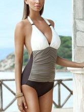 Load image into Gallery viewer, Women's Backless Deep V Neck One Piece Swimsuit