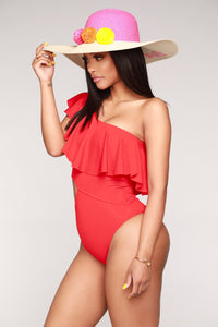 Women's One Off Shoulder One Piece Swimsuit