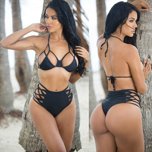 Women's Hot Hollow out Strappy Two Piece Swimsuit