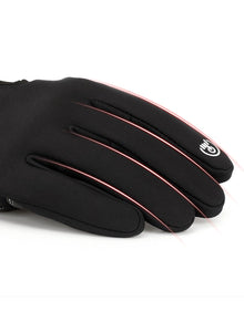 Winter Outdoor Sports Skiing Riding Waterproof Full Finger Touch Screen Zipper Fleece Warm Gloves