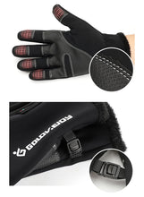 Load image into Gallery viewer, Winter Outdoor Sports Skiing Riding Waterproof Full Finger Touch Screen Zipper Fleece Warm Gloves