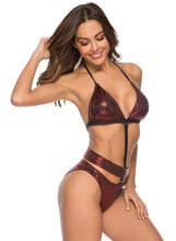 Load image into Gallery viewer, Solid Halter Push up Two Piece Bikini Swimsuit