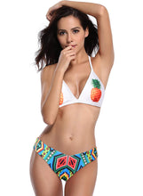 Load image into Gallery viewer, Pineapple Print Triangle Bikini Set Two Piece Swimsuit