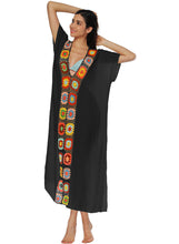 Load image into Gallery viewer, Handmade Cotton Splice V-neck Smock Beach Dress