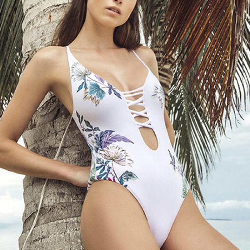 Floral Printing One Piece Swimsuits