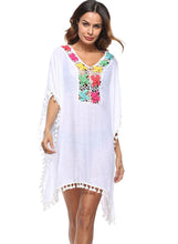 Load image into Gallery viewer, Handmade Lantern Tassel Cutout Smock Beach Dress