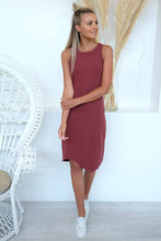 Load image into Gallery viewer, One In Eight Midi Dress Burgundy
