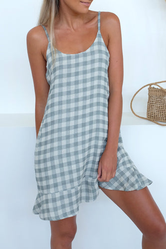 Summer Gingham Mini Dress