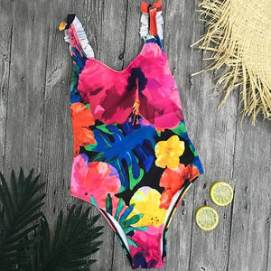 Blushing Floral One Piece Bathing Suit by Pesci Moda
