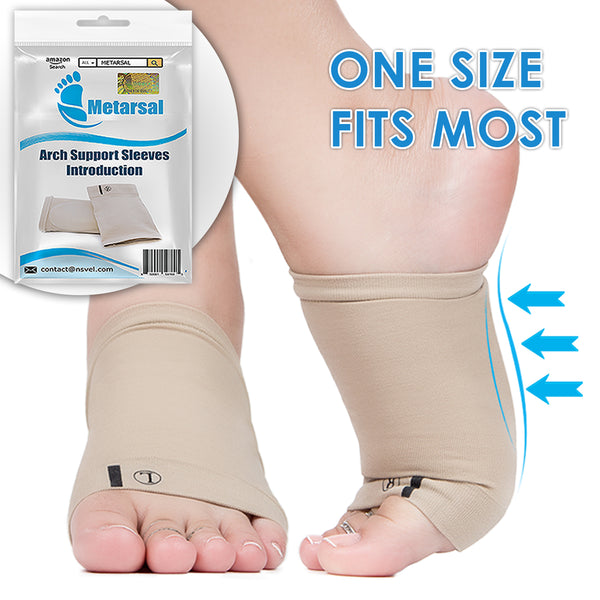 2badc3a582a65 Metarsal Compression Arch Support Sleeves Sock with Comfort Gel Pad Cu