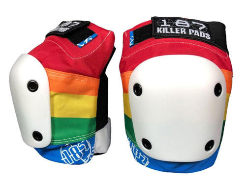 187 Rainbow Slim Kneepads