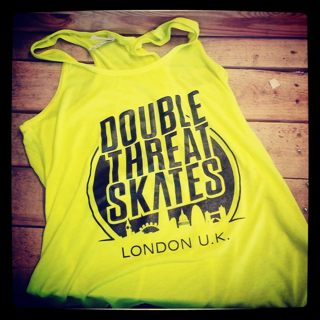 Double Threat Neon Racerback Tank