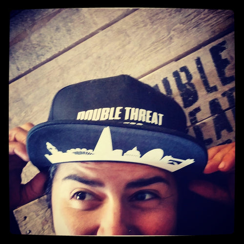 Double Threat Skates London Skyline Snapback Hats