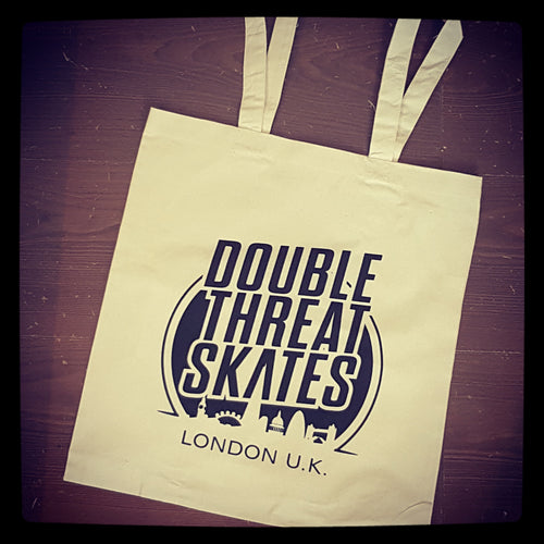 Double Threat Skates Tote Bags