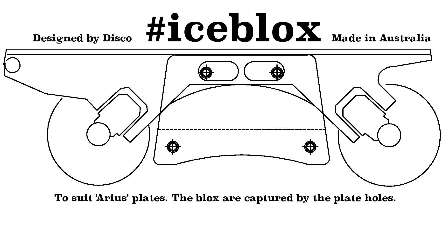 Discoblox Iceblox (to fit Arius plates)