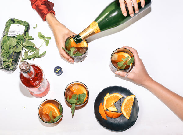 A Summer Cocktail: Aperol, Ginger & Mint Spritz