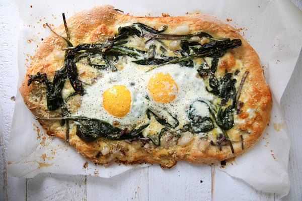 Flatbread With Ramps & Pecorino