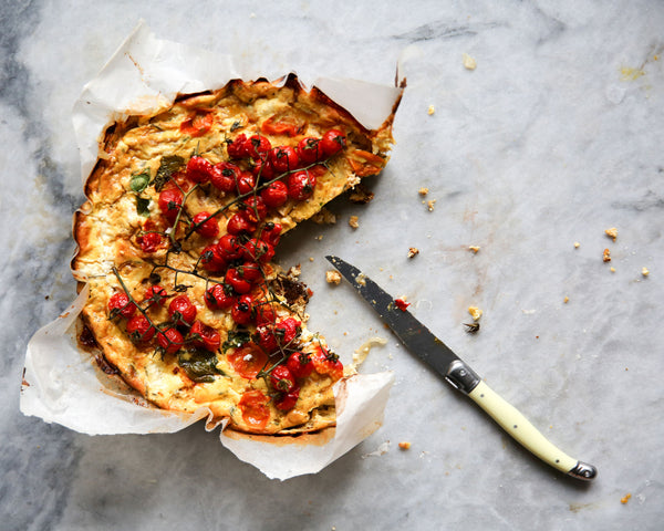 Caramelised Onion Frittata with Slow Roasted Tomatoes