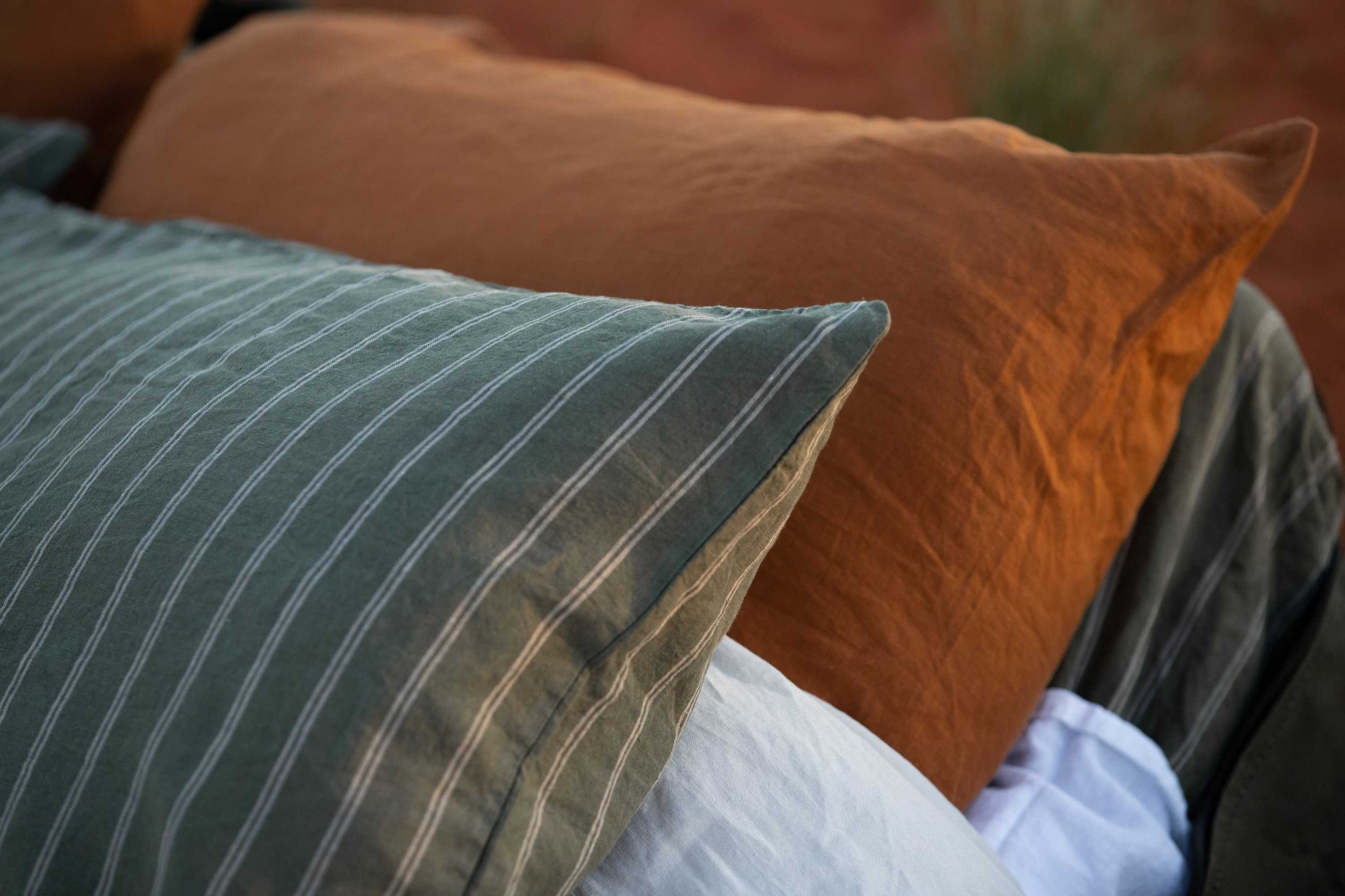 Linen duvet, sheets, pillowcases and sleepwear by IN BED